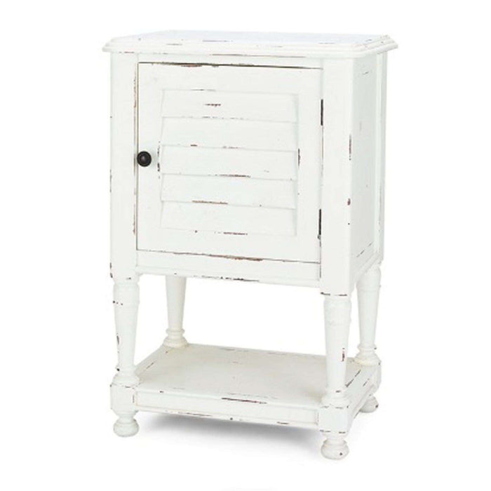 Bahama Style Petite Bedside Table in White Harvest- quick ship