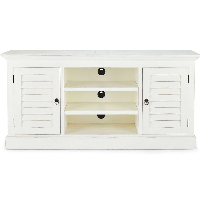 Bahama Style Shutter 2-Door Media Cabinet - quick ship