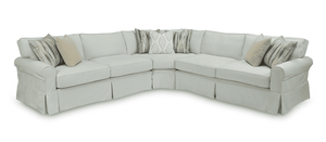 "Bar Harbor II Sectional 108"" x 108"" Slipcovered Sectional"