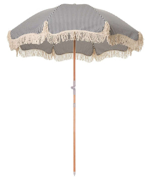 Premium Beach Umbrella - Navy Stripe Beach
