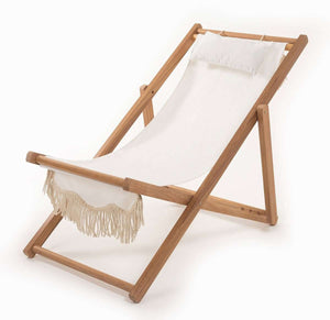 The Sling Beach Chair - Antique White Beach
