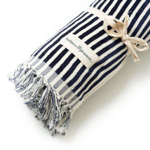 The Beach Towel - Lauren's Navy Stripe Beach