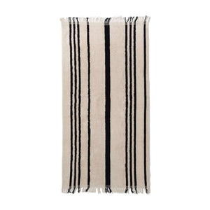The Beach Towel - Vintage Black Stripe