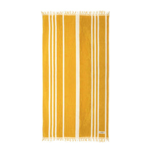 The Beach Towel - Vintage Yellow Stripe Beach
