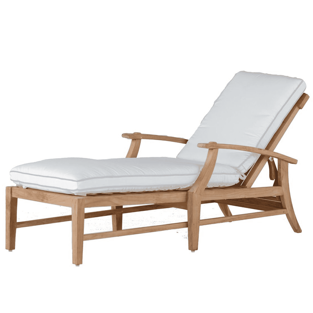 Cape Cod Teak Chaise Lounge Outdoor Furniture