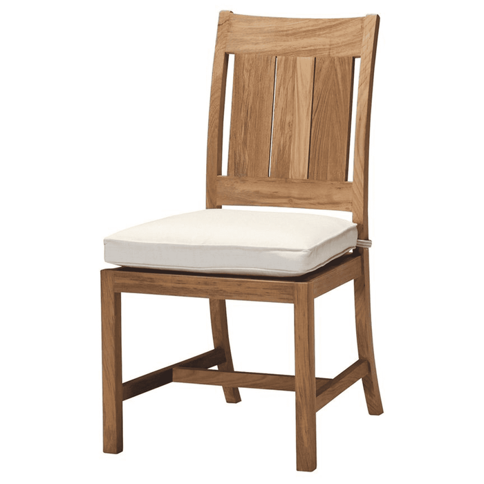 "Cape Cod Natural Teak 20"" Outdoor Dining Side Chair w/Cushion"