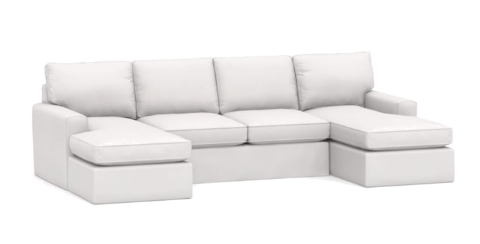"Carmel 132"" x 62"" Slipcovered U-Shape Sectional - 3"