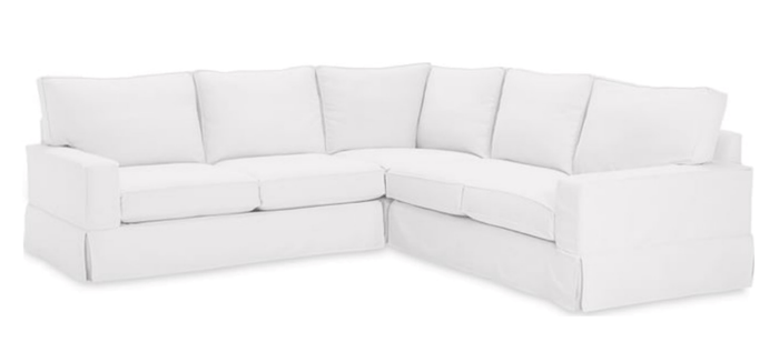 "Carmel Slipcovered 102"" x 103"" L-Shape Sectional - 2"