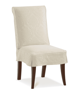 "Cassidy 20"" Slipcovered Parsons Chair w/Side Pleat Dining Chair"
