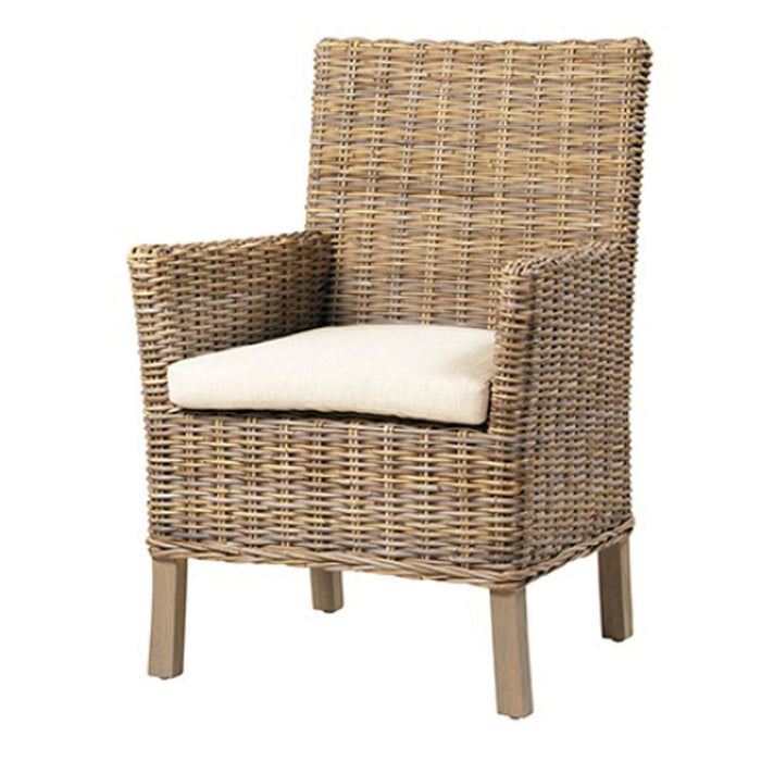 "St. Giles Coastal Rattan 25"" Dining Arm Chair"
