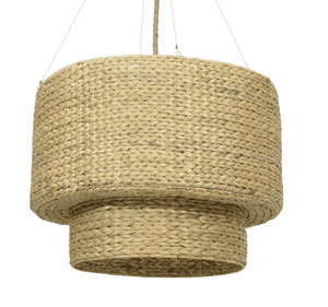 Christina Double Drum Large Seagrass Pendant Pendant Light
