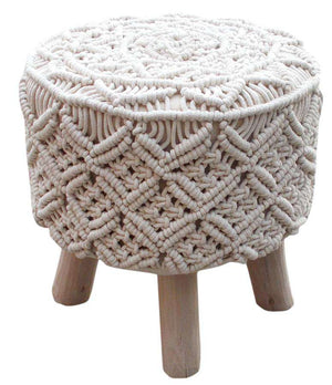 Meadow Crocheted Foot Stool Stool