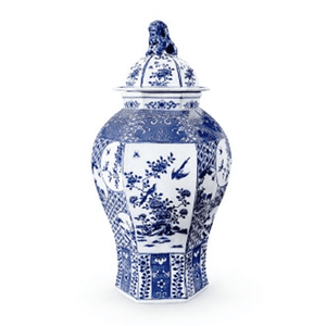 Dalian Six-Sided Temple Jar Decor