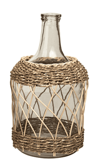 Delhi Glass & Bamboo Bottle Decor