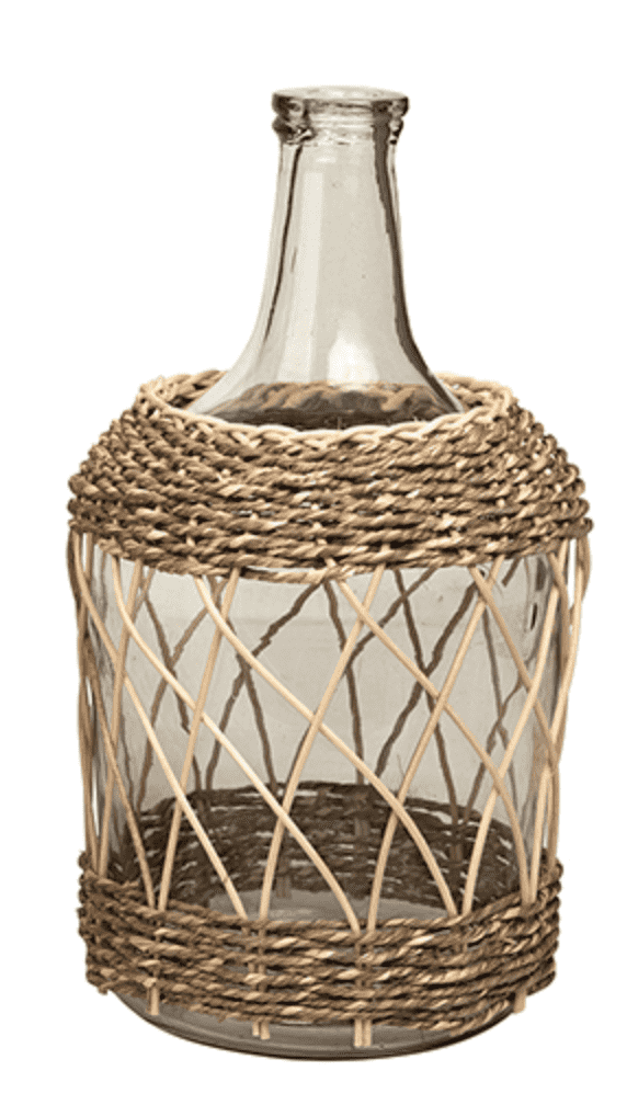 Delhi Glass & Bamboo Bottle