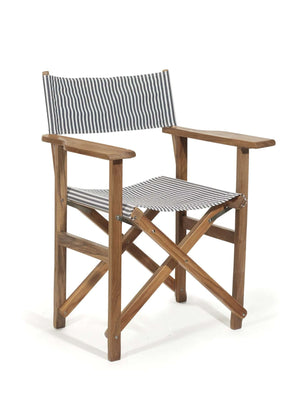 The Directors Chair - Lauren's Navy Stripe