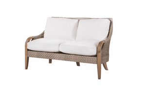 Eastern Shores Woven & Teak Outdoor Love Seat