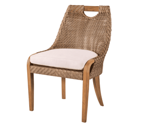 Eastern Shores Woven & Teak Outdoor Dining Side Chair