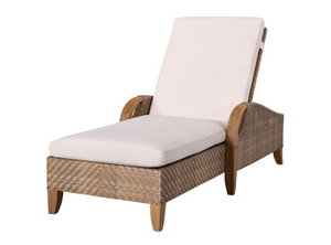 Eastern Shores Woven & Teak Outdoor Adjustable Chaise