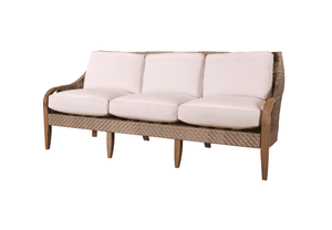 Eastern Shores Woven & Teak Outdoor Sofa
