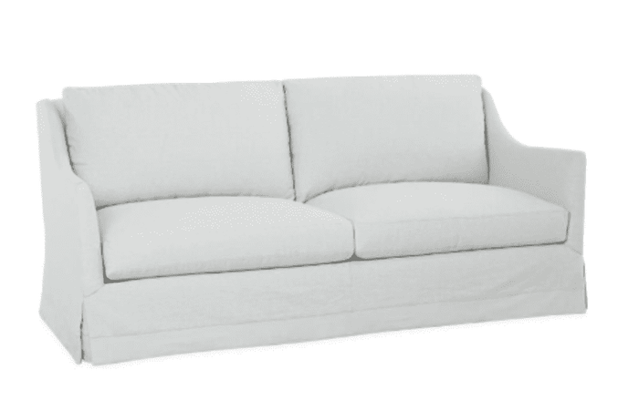 "Eden Rock 78"" Slipcovered Studio Sofa"