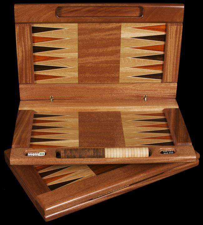 Hardwood Folding Backgammon Set