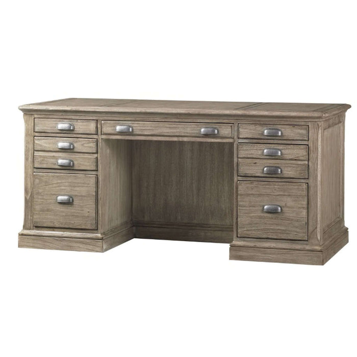 Hampton Gray Driftwood Executive Desk