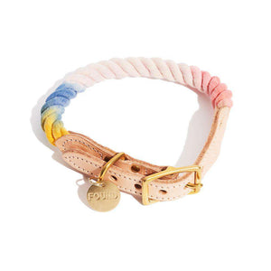 The Henri Ombre Cotton Rope Dog Collar Dog