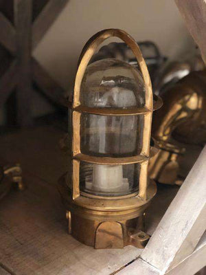 Four-Post Brass Piling Light Ship Light