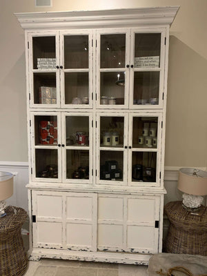 Tall Glass Door White Cabinet Cabinet