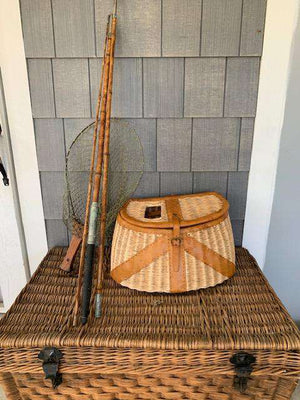 Vintage 1950's Folding Fishing Net Decor