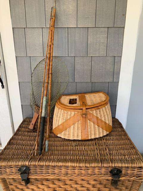 Vintage 1950's Folding Fishing Net