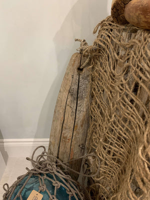 Wood Lobster Buoy - Large Vintage Decor