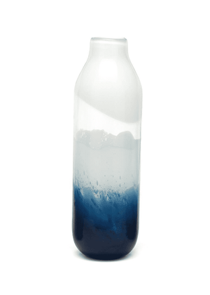 Indigo Seascape Tall Vase Decor