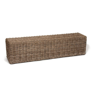 "Kona Wicker Willow Bench Large 71"" Long Bench"