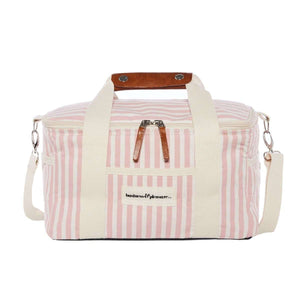 The Premium Cooler Bag - Lauren's Pink Stripe Beach