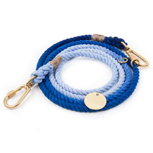 Latty Blue Ombre Rope Dog Leash, Adjustable Dog