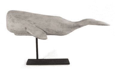White Whale on Stand - Medium with Flat Fluke