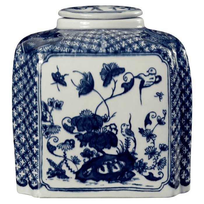 Palace Covered Blue & White Jar