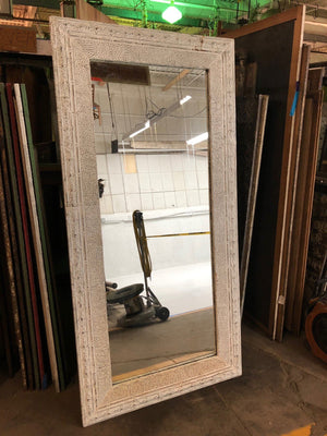 "Embossed Pebble Tin Off-White Mirror 42""x84"" Mirror"