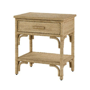 "Portofino 24"" Abaca Rope Bedside Table Nightstand"