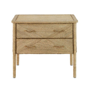 "Portofino Abaca Rope 36"" Two-Drawer Chest Nightstand"