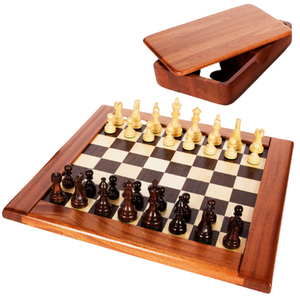 Wooden Chess Board with Pieces