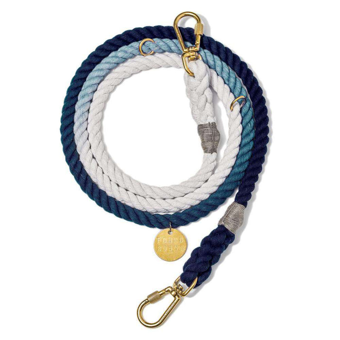 Indigo Ombre Rope Dog Leash, Adjustable
