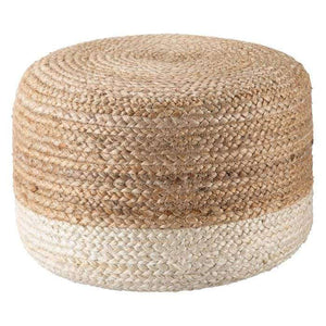 Sabal Pouf-Mulitple Colors Pouf White