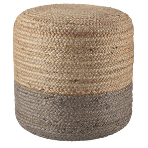 Sabal Cylinder Jute Pouf - Multiple Colors Available Pouf Sabal Taupe