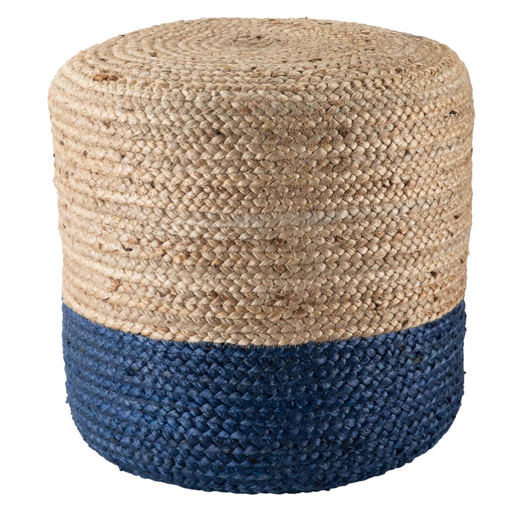 Sabal Cylinder Jute Pouf - Multiple Colors Available Pouf Sabal Navy
