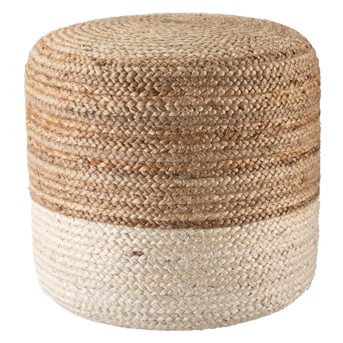 Sabal Cylinder Jute Pouf - Multiple Colors Available