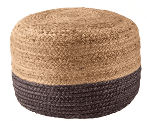 Sabal Jute Pouf - Multiple Colors Available Pouf Sabal Chocolate