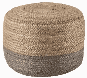 Sabal Jute Pouf - Multiple Colors Available Pouf Sabal Gray